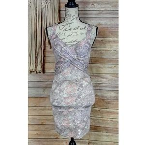 Free People   Rose Print Cross Front Bodycon Dress